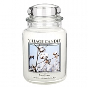 Village Candle Pure Linen Large 26oz Jar Candle