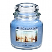 Village Candle Rain Medium 16oz Jar Candle