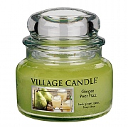 Village Candle Ginger Pear Fizz Small 11oz Jar Candle