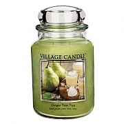 Village Candle Ginger Pear Fizz Large 26oz Jar Candle