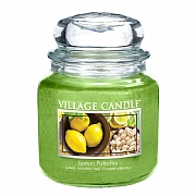 Village Candle Lemon Pistachio Medium 16oz Jar Candle