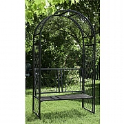 Panacea Lattice Arch with Bench Black