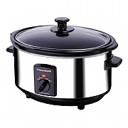 Morphy Richards Brushed Stainless Steel Slow Cooker 3.5 litre