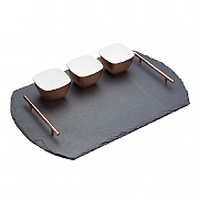 Artesa 4 Piece Slate & Copper Serving Set