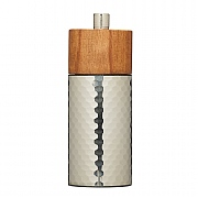 MasterClass Hammered Stainless Steel & Beechwood Pepper Mill