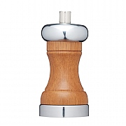 MasterClass 12cm Chrome and Acacia Wood Pepper Mill