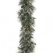 9ft Glittery Bristle Garland