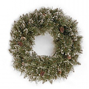 "20"" Glittery Bristle Wreath"