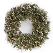 "24"" Glittery Bristle Wreath"