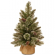 2ft Glittery Bristle Pine Artificial Christmas Tree