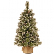 3ft Glittery Bristle Pine Artificial Christmas Tree