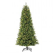 7.5ft Pre-Lit Kensington Slim Fir Artificial Christmas Tree