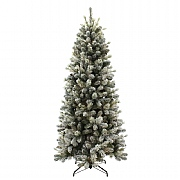 7.5ft Slim Snowy Cone Pine Artificial Christmas Tree