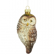 Glass Owl Ornament 12cm
