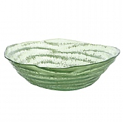 32cm Recycled Glass Bowl -Green