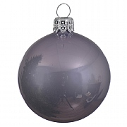 Lilac Misted Enamel Bauble - 8cm