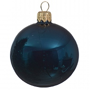 Petrol Blue Misted Enamel Bauble - 8cm