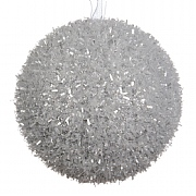 Silver Foam Ice Bauble - 8cm