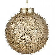 Light Gold Shatterproof Snowball Bauble - 8cm