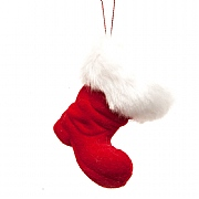 Red Santa's Boot Tree Hanger - 8cm