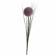 Lilac Silk Allium on stem with Frost 66cm