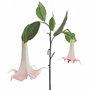 Blush Pink Silk Trumpet Flower on Stem 95cm
