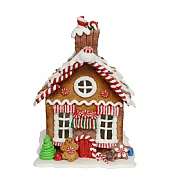 Gisela Graham Gingerbread House with Lights Ornament