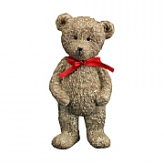 Gisela Graham Resin Standing Teddy with Red Bow Ornament
