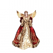 Gisela Graham Deluxe Fabric & Resin Angel Tree Topper Large