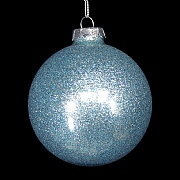 Gisela Graham Pale Blue Lurex Glass Ball