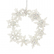Gisela Graham Clear & Glitter Acrylic Snowflake Wreath Tree Decoration