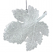 Gisela Graham Iridescent Glitter Acrylic Leaf Tree Decoration