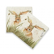Kate of Kensington Family of Hares Marble Coasters (Set of 2)