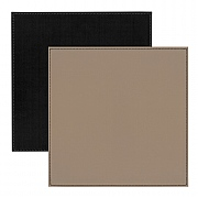 Faux Leather Placemats Black/Taupe Border Stitch 25x25cm