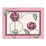 Mackintosh Rose Pink Glass Worktop Saver