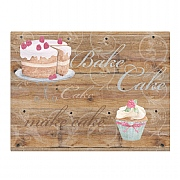 Bake Cake Glass Worktop Saver
