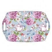 Rose Garden Melamine Handled Tea Tray