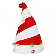 Battery Operated Light Up Xmas Hat 35cm