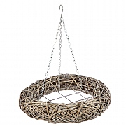 Natural Willow Hanging Wreath 80cm