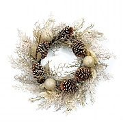 Wreath Champagne Gold 60cm