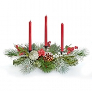 Red Candle Centerpiece 70cm