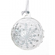 Clear Glass Bauble 80mm