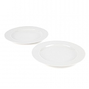 Alessi La Bella Tavola Porcelain Dinner Plates Set of 2
