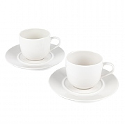 Alessi La Bella Tavola Porcelain Cup and Saucer Set of 2