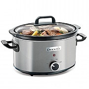 Crockpot 3.5L Brushed Stainless Slow Cooker