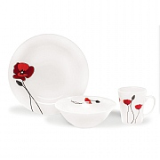 Modena 12 Piece Poppy Design Dinner Set