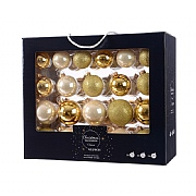 Decoris Box of 42 Gold Assorted Baubles