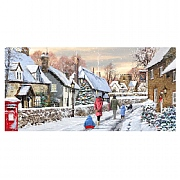 Village Lane LED Canvas 80x40cm