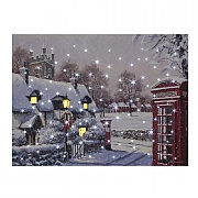 Phone Box LED Canvas 40x30cm