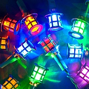40 Multi Coloured LED Lantern Lights